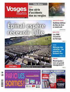 Vosges Matin, Ed. Saint-Dié-des-Vosges - N°200121
