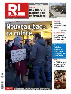 Abonnement Le Républicain Lorrain, Ed. de Sarrebourg