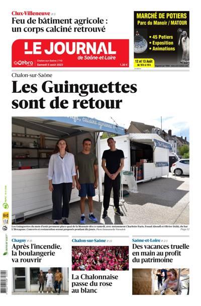 Le Journal de Saône et Loire, Ed. de Chalon Sur Saône - N°200327