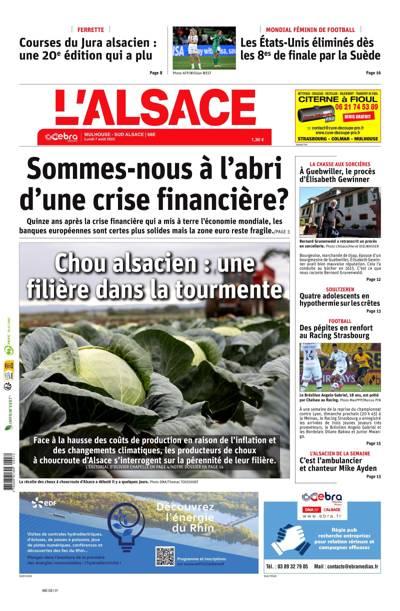 Abonnement L'Alsace, Ed.  Mulhouse