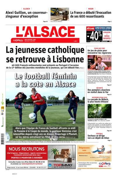L'Alsace, Ed.  Mulhouse - N°201126