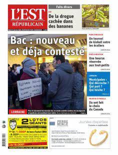 Est Républicain, Ed. de Pont-à-Mousson - N°200121