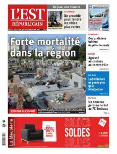 Abonnement Est Républicain, Ed. de Montbéliard