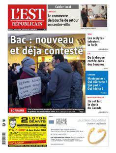 Est Républicain, Ed. de Lunéville - N°200121