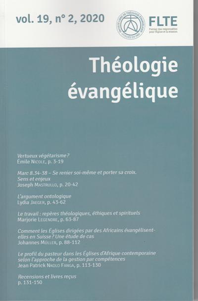 Abonnement Théologie Evangélique